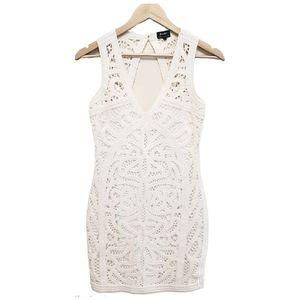 Bardot Crochet Open Back Bodycon Mini Dress 4